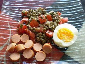 virslis tojásos lencsesaláta