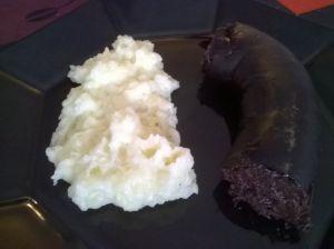 véres hurka krumplipürével